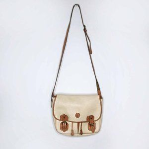 Vintage Club Monaco leather saddle bag